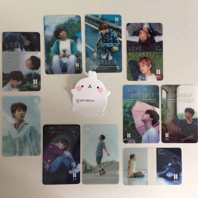 BTS love yourself transparent photocards