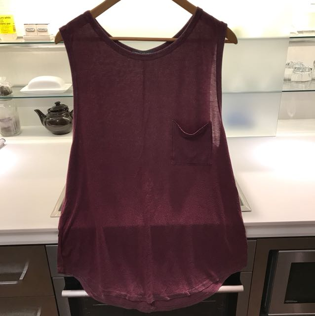 Burgundy Oversized Tank (Long)