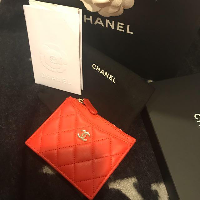 Chanel 小羊皮卡片零錢包