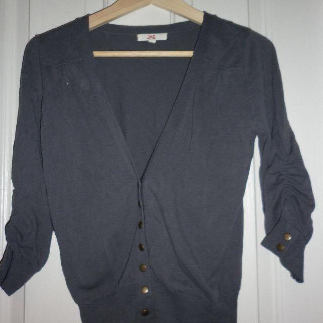 Charcol grey jag cardigan - size S