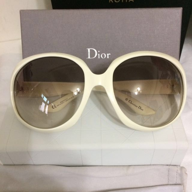 Christian Dior 迪奧 白色大框太陽眼鏡 墨鏡 dior