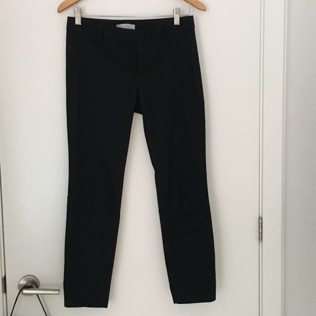 Classic Cropped Black Trouser