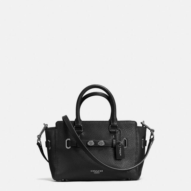 Coach Black mini blake carryall