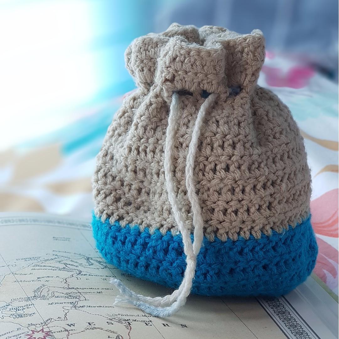 Crochet Drawstring Bags Design Craft Handmade Craft On Carousell