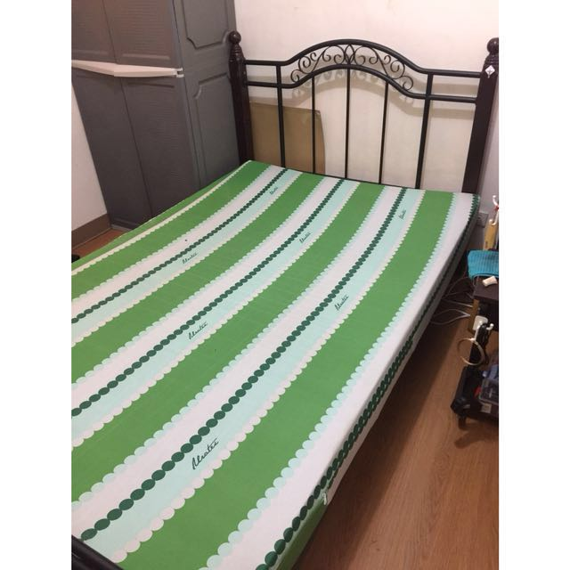 Double Size Bed Frame and Mattress