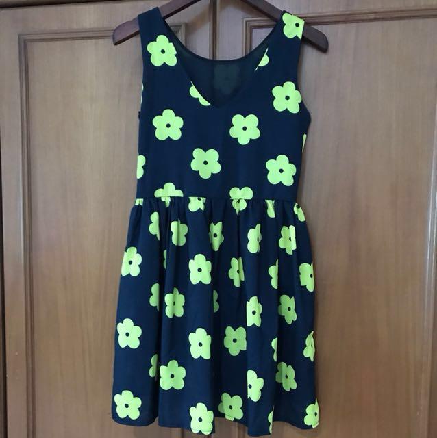 Dress Bunga kuning