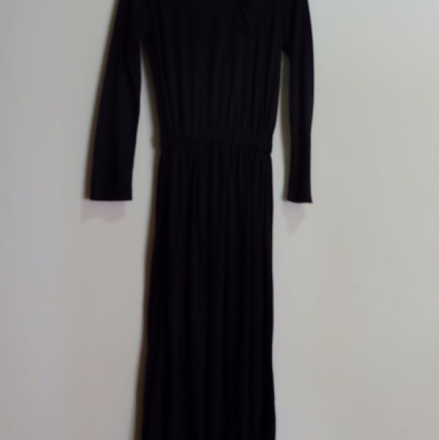 dress kaos hitam