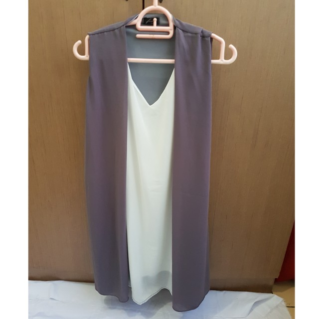Dress Vest Grey Cardi