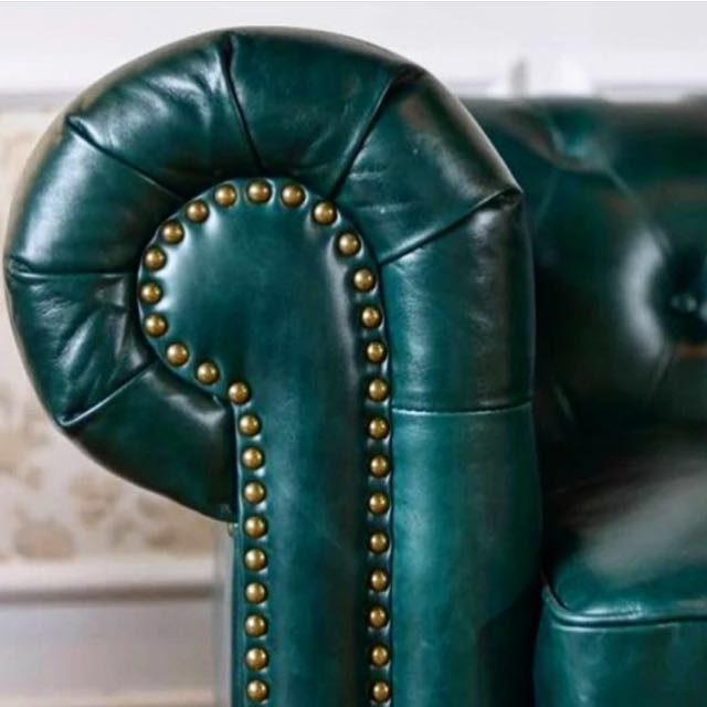 Emerald Green Chesterfield Furniture Sofas On Carousell
