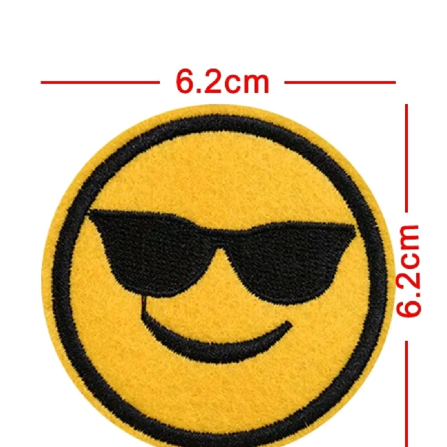 Emoji Iron-on Embroided Patch