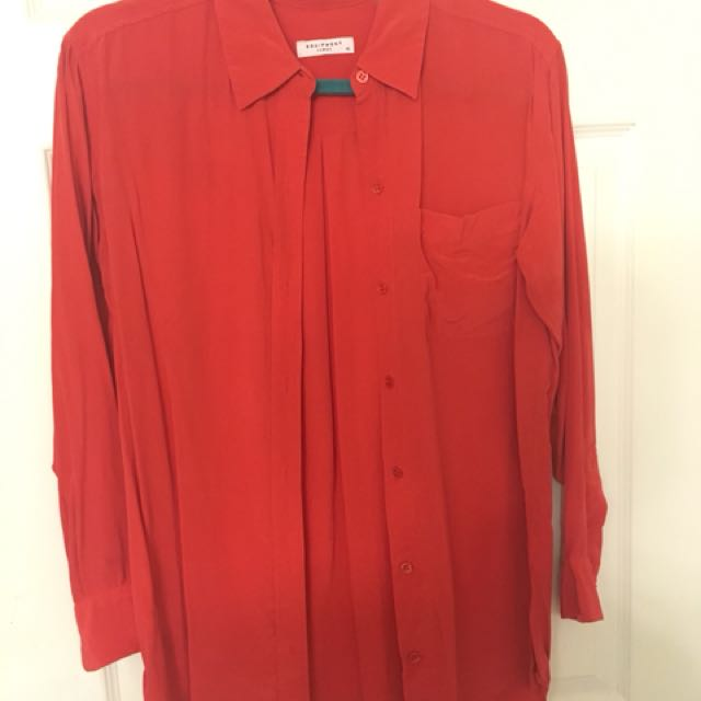 Equipment silk dress shirt orange size Xs