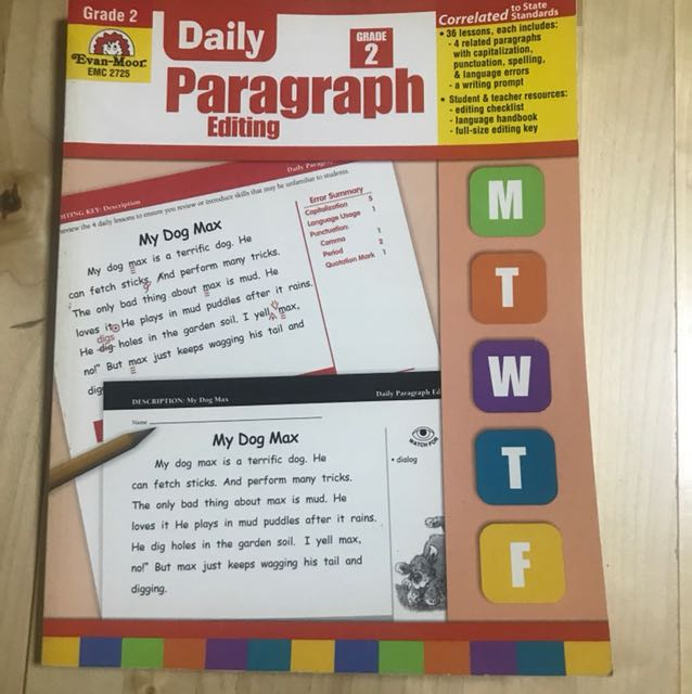 Evan Moor English Daily Paragraph Editing (Grade 2), Books