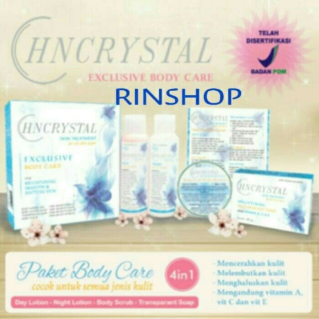 Exclusive Paket Body Hn Crystal BPOM