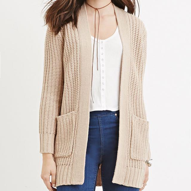 F21 cozy knit cardigan