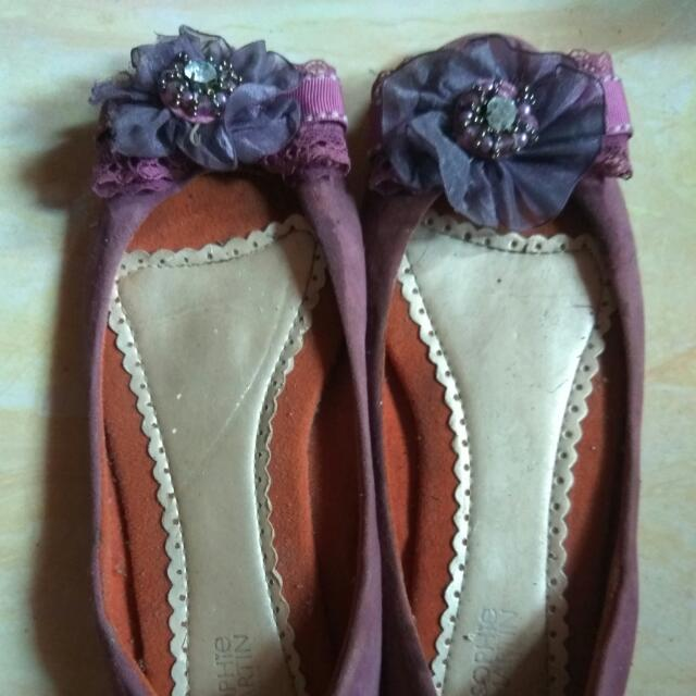 Flat Shoes Purple Sopie Martin