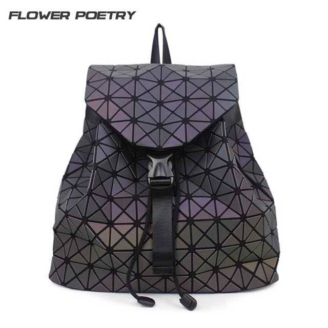 5cf973e7a9 FLOWER POETRY Brand luminous Geometric Quilted Backpacks Luxury ...