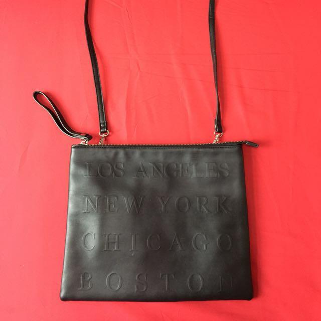 Forever21 black sling bag