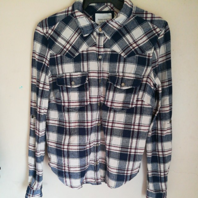❤ Forever 21 Plaid button down