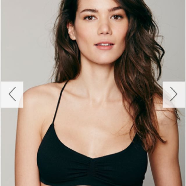 Free people strapped back bralette (xs)