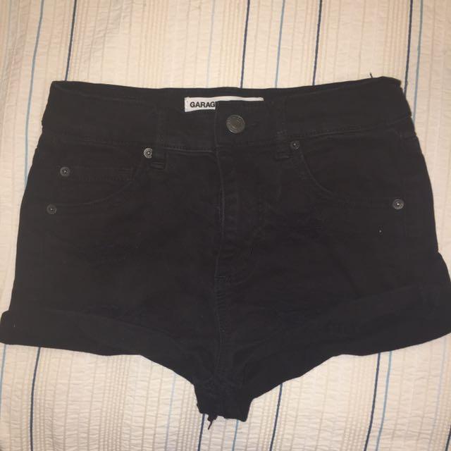 Garage ripped denim shorts