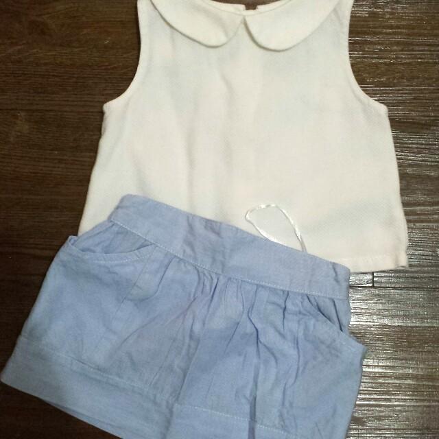 Gingersnaps light blue skirt