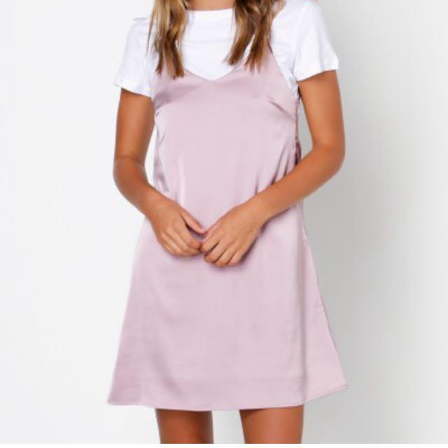 Glamorous lilac silky slip dress