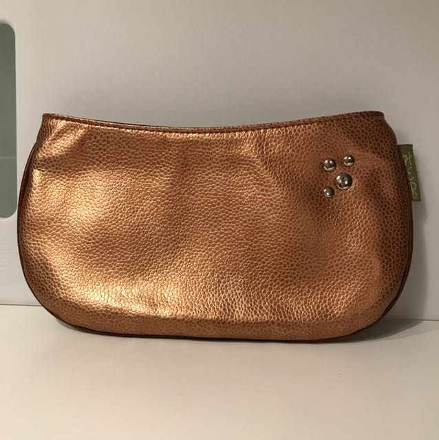 Gold Vegan Leather Clutch / Handbag