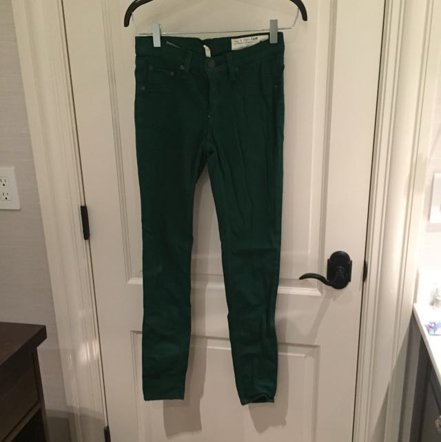 Green Rag And Bone Jeaggings