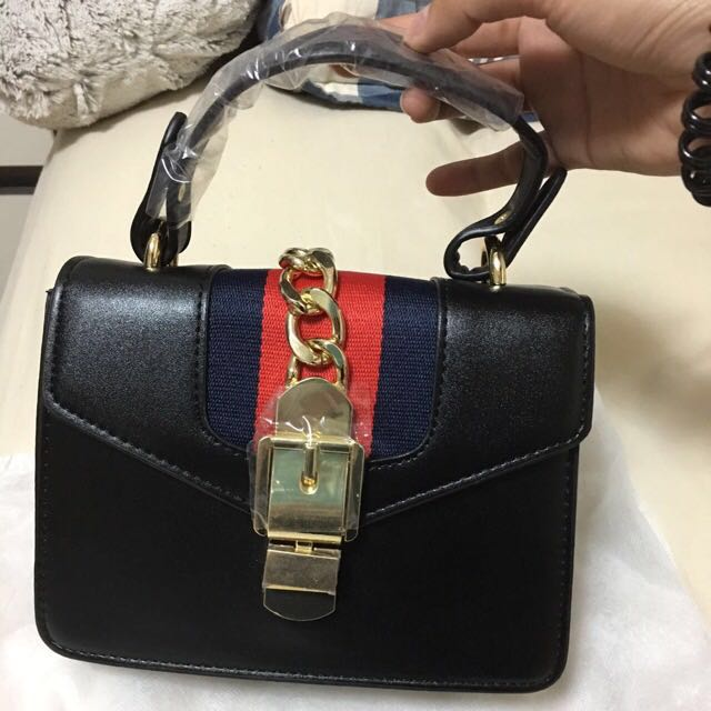 400ded55 Gucci Inspired Black Bag, Women's Fashion, Bags & Wallets on Carousell