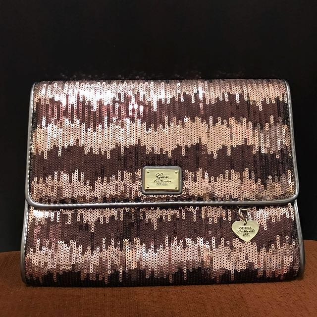 Guess Brown Clutch Bag / Tas Pesta