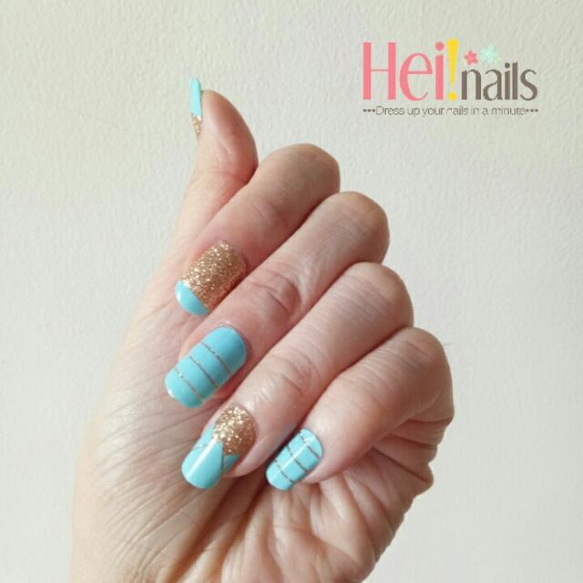 Heinails Nailsticker Toska Glitter - Stiker Kuku