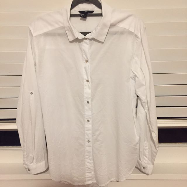H&M white button up shirt