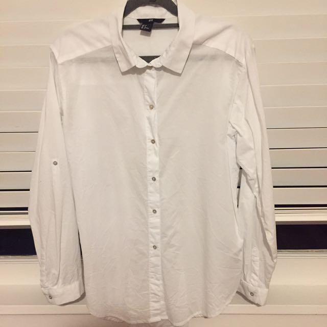 H&M white button up shirt