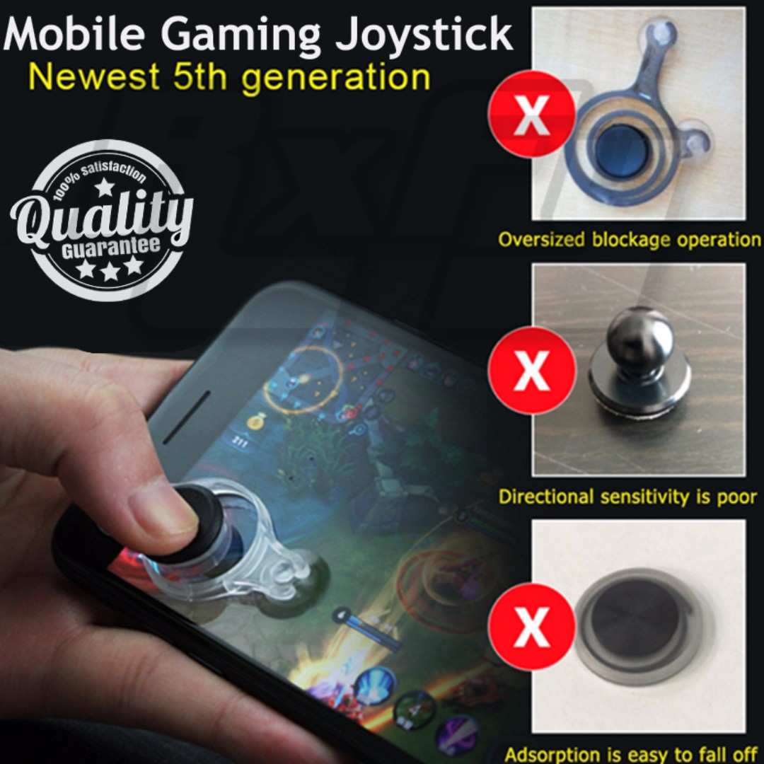 🆕🔥*HOT* [5th Gen] Mobile Phone Handphone Tablet Joystick Controller (Compact, Enhanced visibility, Ergonomic, Great Suction, iOS/Android Compatible, Works Better Than Fling Mini)