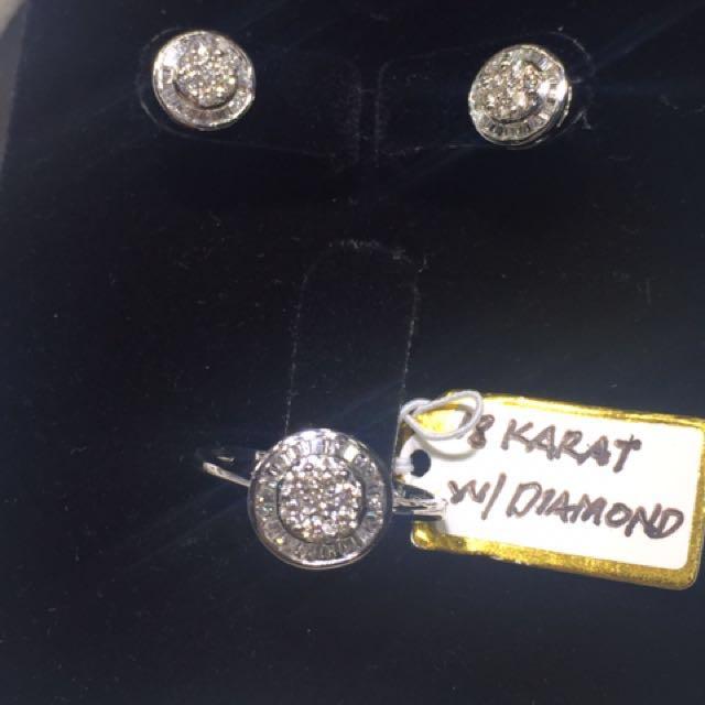 Illusion diamond stud set