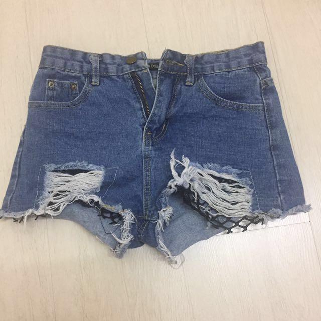 INC postage Denim Shorts
