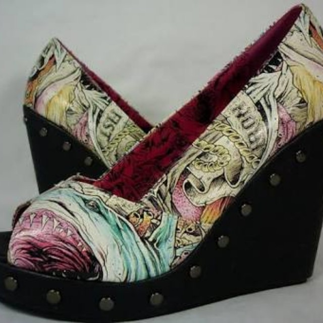 Iron Fist Here I Lie Wedges size 9