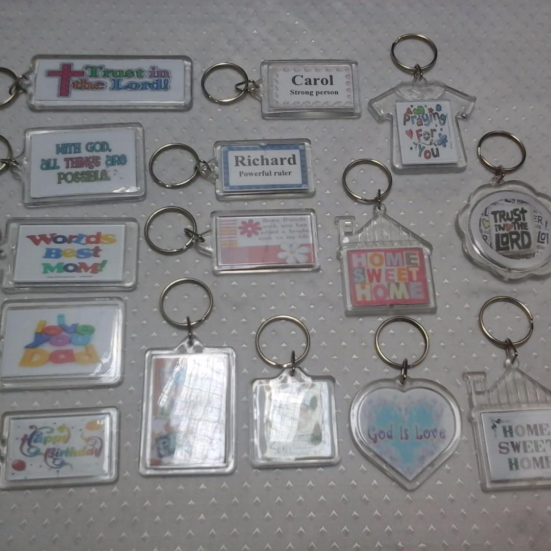 Keychain Acrylic Souvenirs Giveaways for wedding.baptismal,birthday,christening