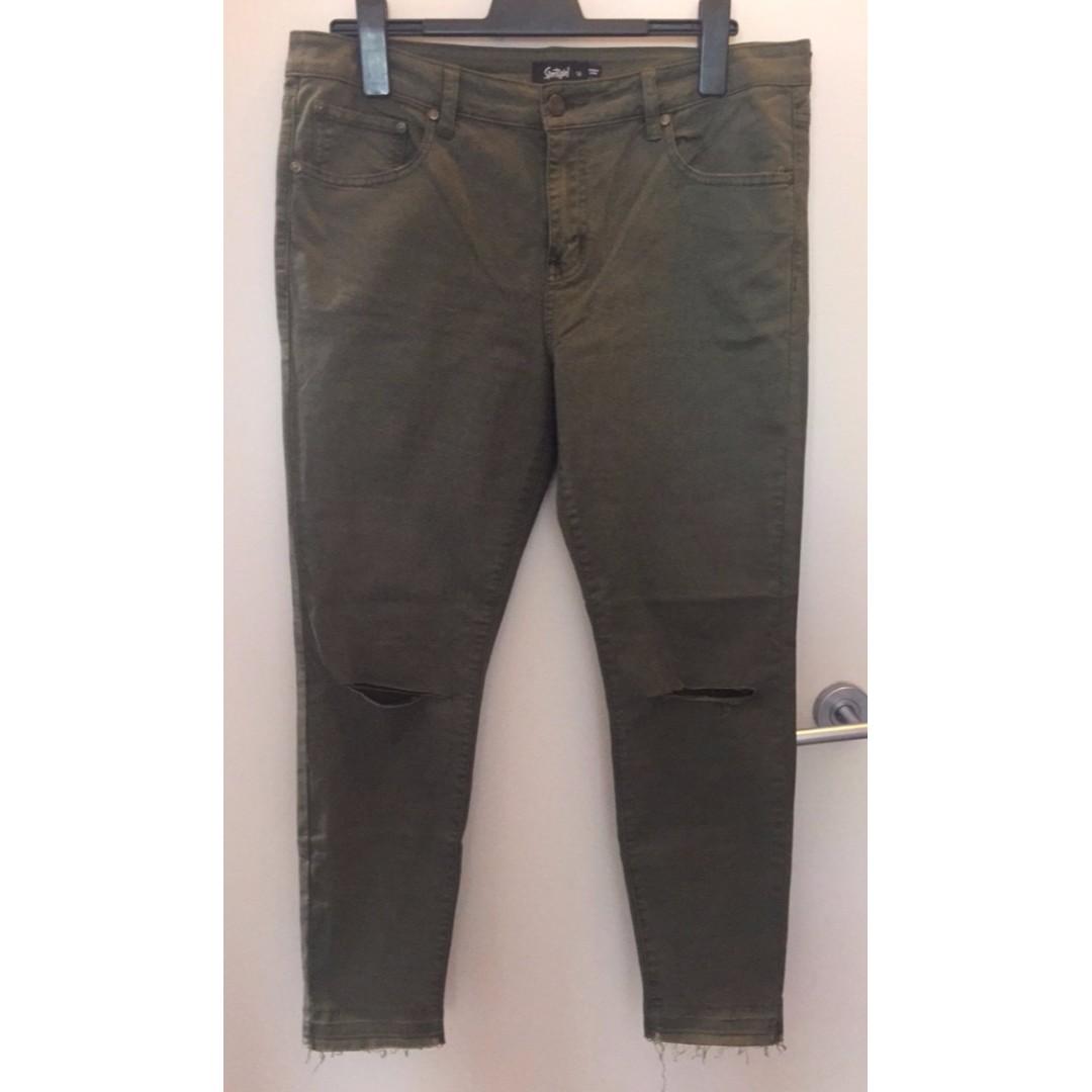 Sportsgirl Khaki Denim Jeans