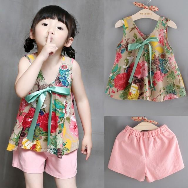 Kids girl korean style 2 piece set