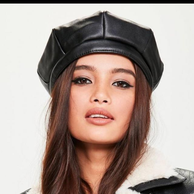 Leather Beret Hat 1a36244f94c