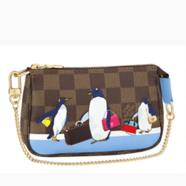 9859bf70e975 louis vuitton mini pochette accessories penguin christmas 2017 ...