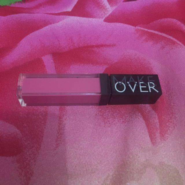 Make Over liquid lip colour pink