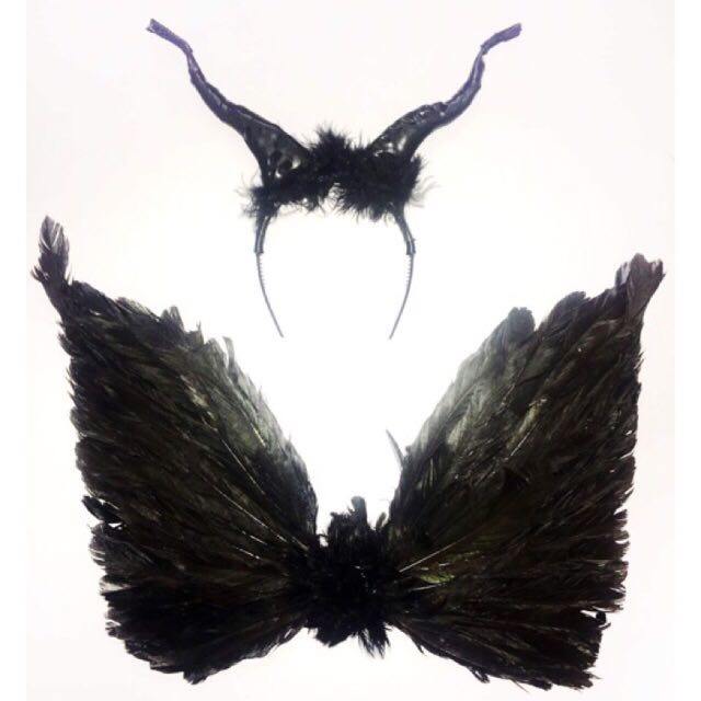 Maleficent wings and headpiece