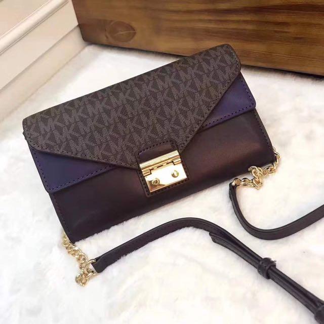 9698e130e04 Michael Kors Sloan Leather Wallet Preorder
