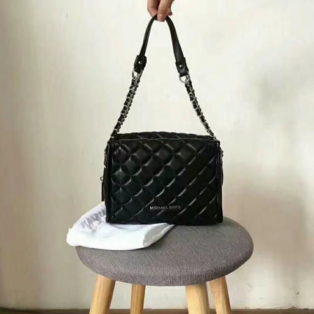 708bdb28c834 PO) MK Rachel Medium Quilted Leather Satchel Bag, Women's Fashion ...