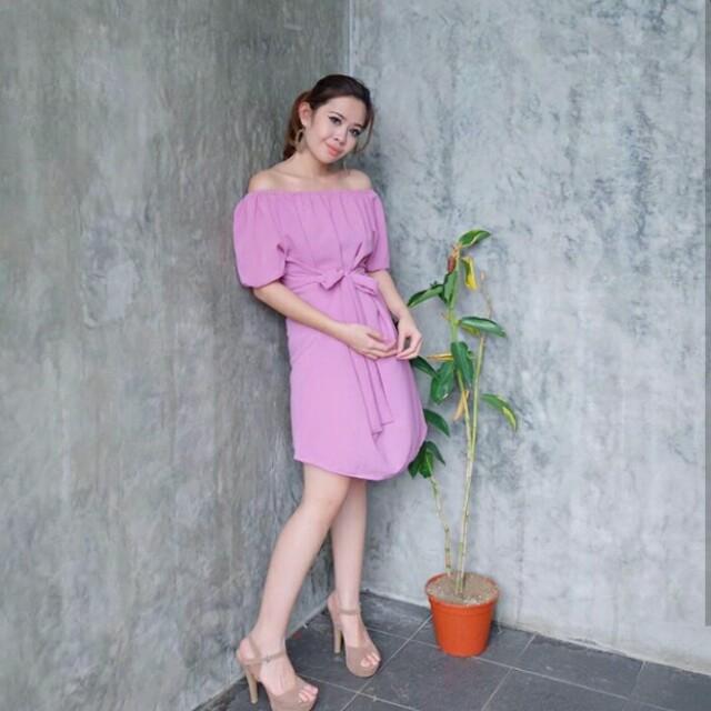 Moona dress pink