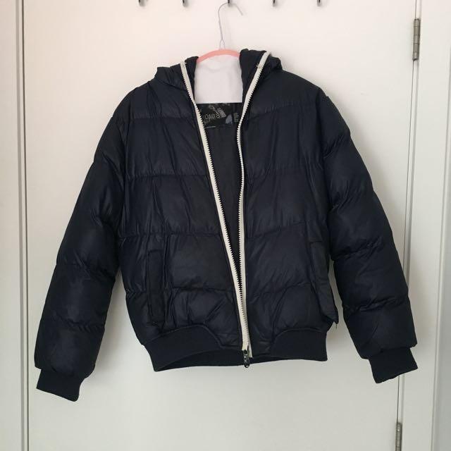 Navy Puff Coat