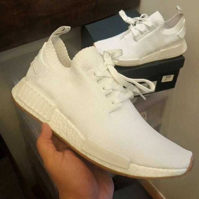 "NMD R1 ""Gum Pack"" White PrimeKnits size 9.5U.S."