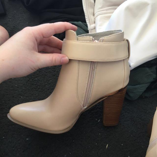 9bb0b444087 NUDE brand Myer Boots Nude, Women's Fashion, Shoes on Carousell